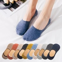 5 pairs spring summer women socks solid color fashion wild shallow mouth felmen girls female invisible no show slipper socks