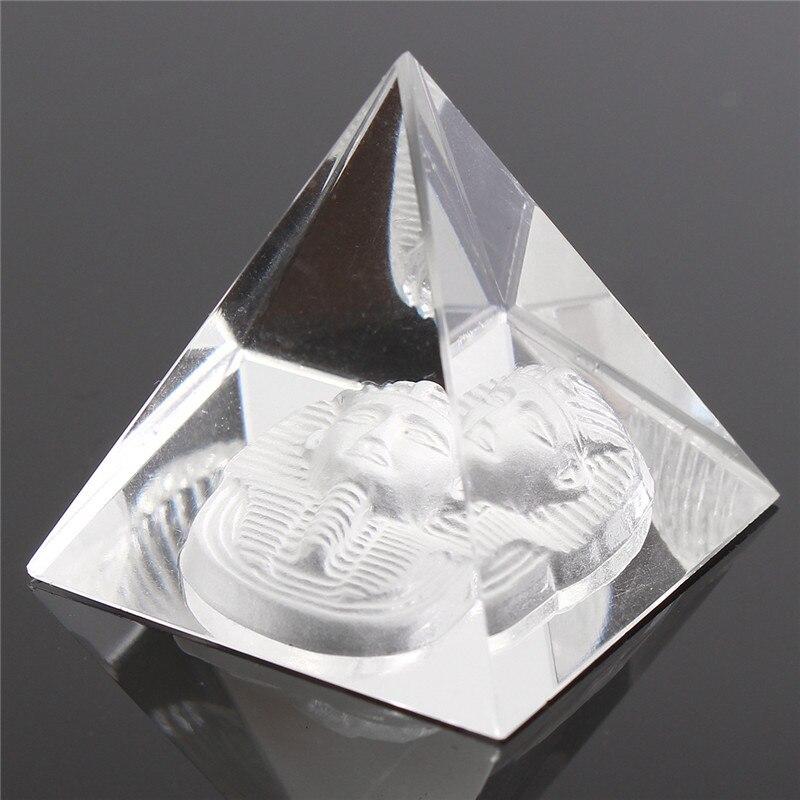 Lucky Energy, amuleto curativo pequeño para Feng Shui, Egipto, forma de cristal claro, ornamento de pirámide Reiki, Chakra curativo, decoración del hogar