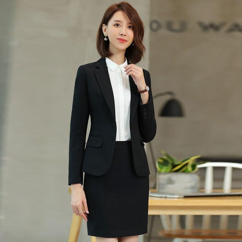 كبير حجم المرأة S-4XL المرأة دعوى تنورة 2-قطعة مجموعة من عالية الجودة المهنية مكتب ارتداء مزاجه بلون سترة