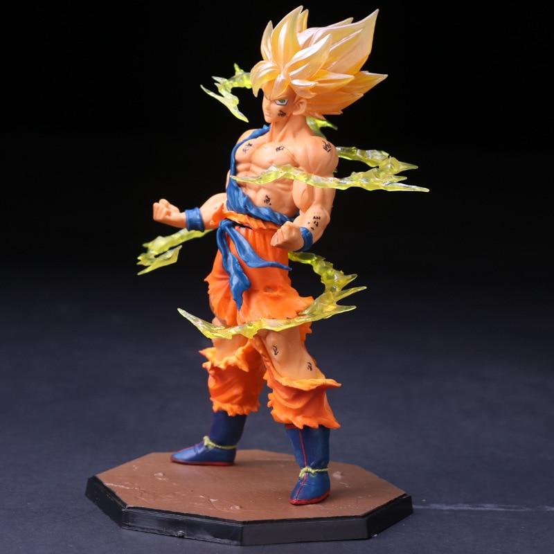 Figuras de acción de Harle, modelos de PVC de los recuerdos de la infancia de la bola de dragón FZERO Sun, modelo de mano Wukong Super Saiyan Sun de 17cm