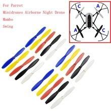 Un ensemble RC hélice lame Mini Drones pour perroquet Mambo pièces de aéronef sans pilote (UAV) hélices RC pour Mini Drones pour perroquet Mambo pièces de aéronef sans pilote (UAV)