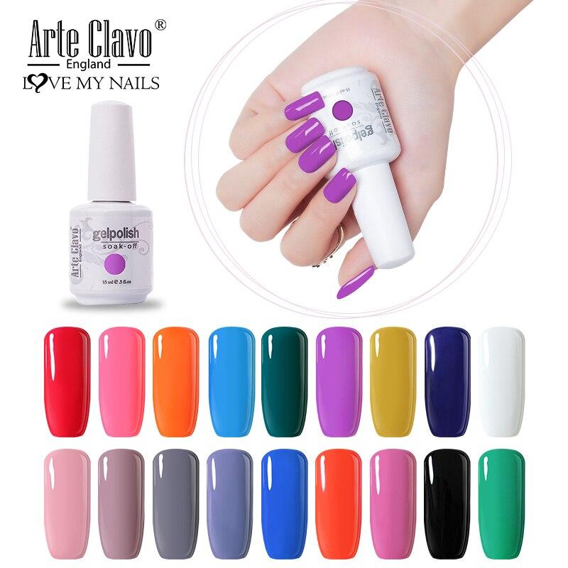 Arte Clavo Gel UV LED Vernis Semi permanente púrpura, rojo, Rosa Color híbrido barniz para Arte de manicura uñas Gel capa superior para base