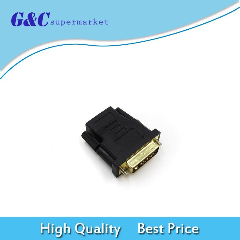 Calidad Superior DVI-D macho (24 + 1 pin) a HDMI hembra (19-pin) HD HDTV Monitor adaptador de pantalla