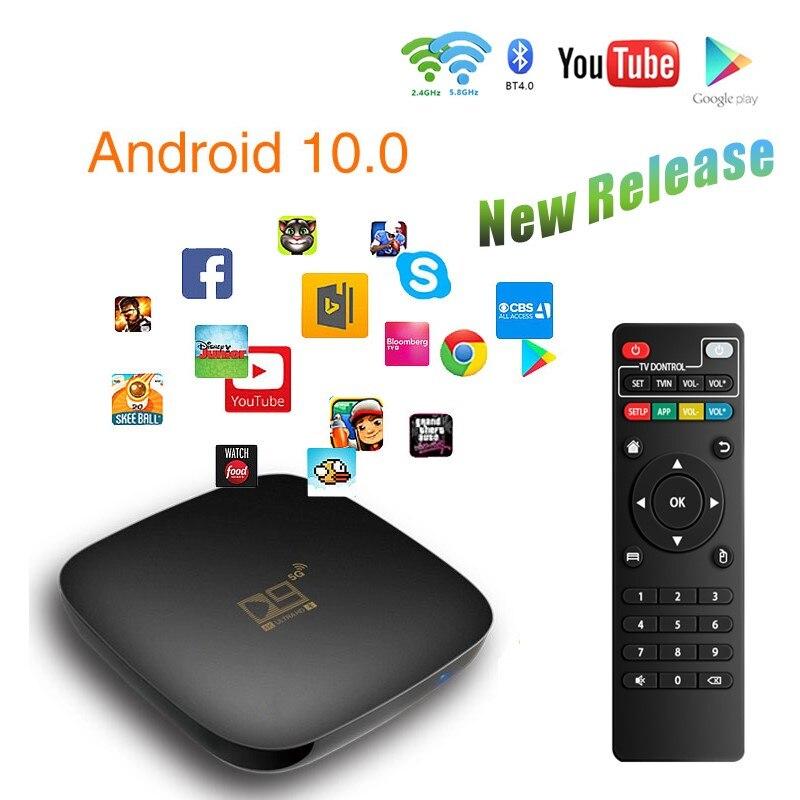 Android 10.0 TV BOX D9 Max TV Box 10 8G 16G 64G 2.4G 5G WIFI 4K 3D Bluetooth-compatible TV receiver