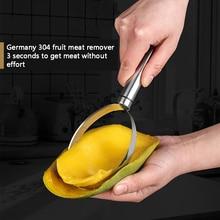 Küche zubehör werkzeuge mangos kiwis obst cutter maschine flesh separator peeler edelstahl küche gadgets obst schäler