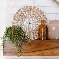 3pcsset boho round ornaments nordic wall art decorative plate rattan wall decor straw woven wall hanging decor handicraft