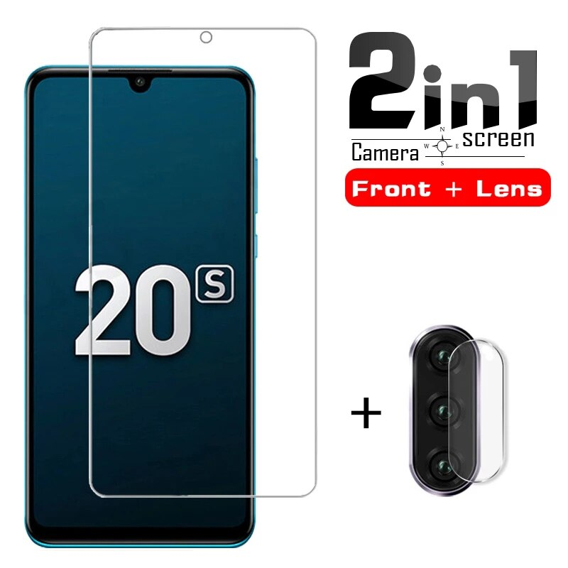 Tempered glass For huawei honor 20s mar-lx1h screen protector on honor 20s 6.15 20 s honor20s 2 in 1