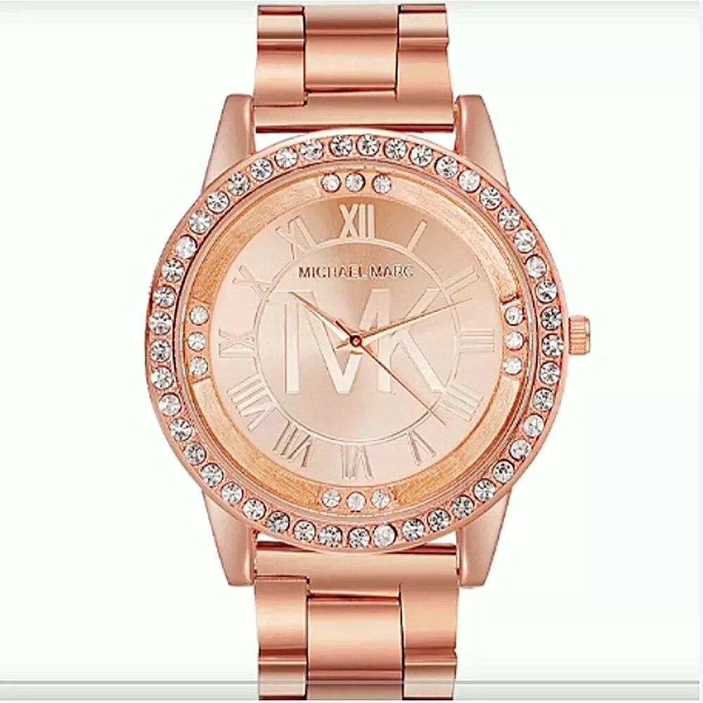 Relogios Femininos Hot Sales Luxury Brand All Steel Watch Women Ladies Fashion Crystal Dress Quartz