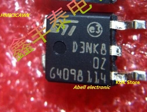 Original 100% nuevo D3NK80Z STD3NK80ZT4 STD3NK80Z STD3NK80 3NK80 DPAK 50 unids/lote