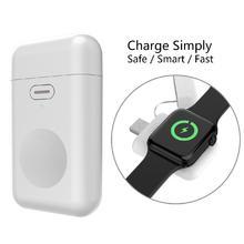 Для Apple Watch 1 2 3 4 Беспроводное зарядное устройство 1000 мАч микро USB портативный мини аккумулятор PowerBank для iWatch 1/2/3/4 зарядное устройство База r20
