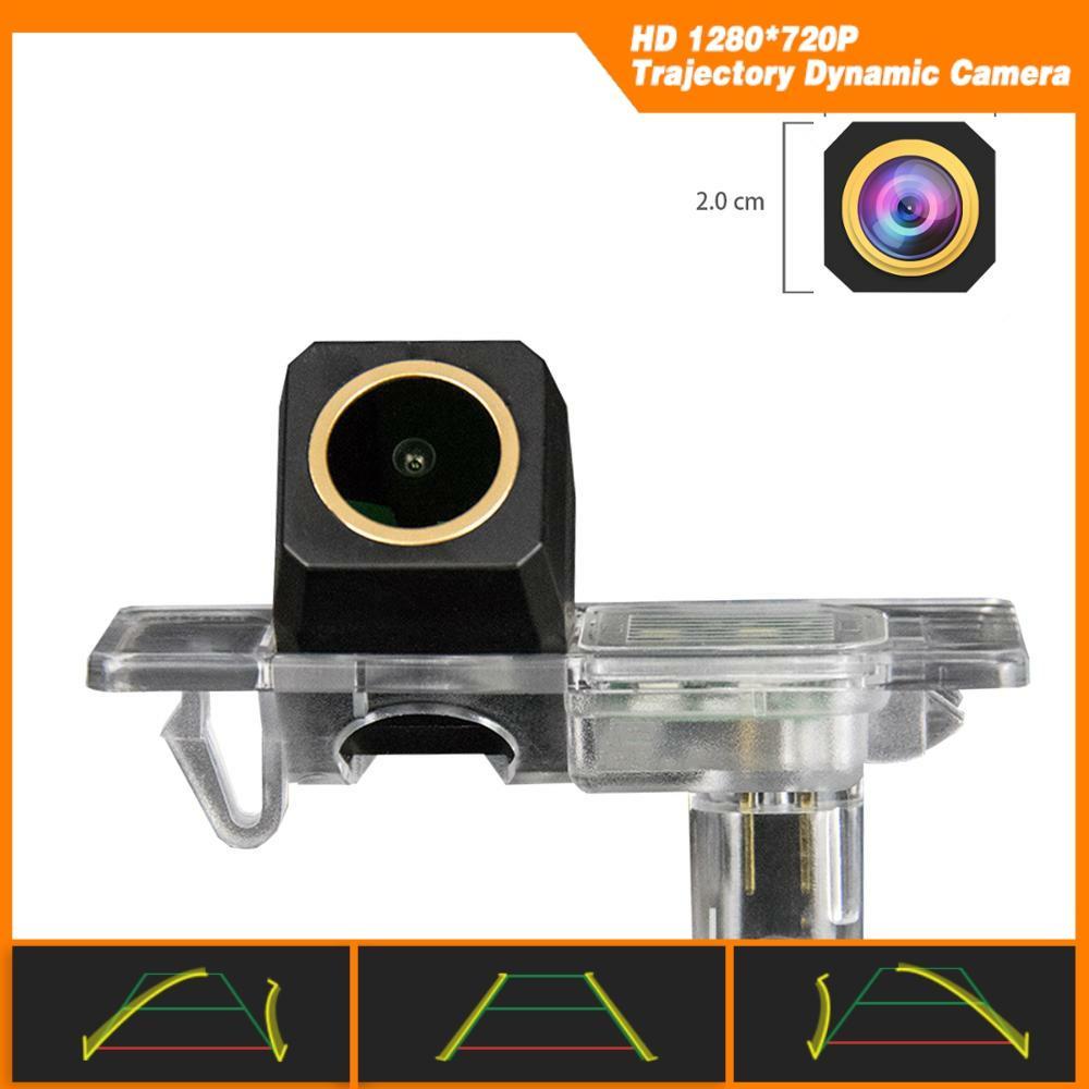 Hd 1280x720p golden câmera traseira backup câmera trajetória dinâmica linha de estacionamento para land rover vela/jaguar xe xf f-pace xfl x250