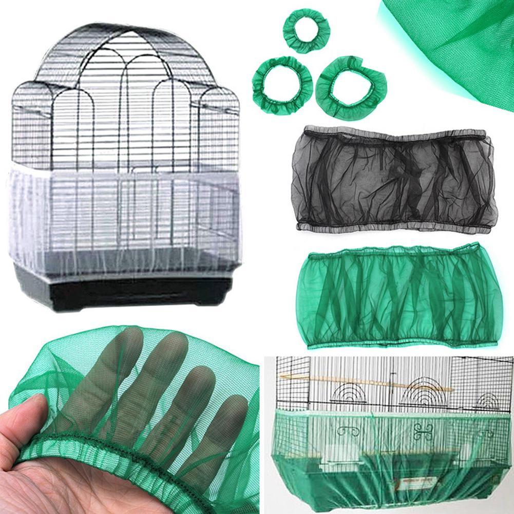 Pájaro de malla de nailon Receptor semillas de semillas protector pájaro loro cubierta pájaro jaula sombra tela escombros trampa jaula S-L Dropshipping 2019