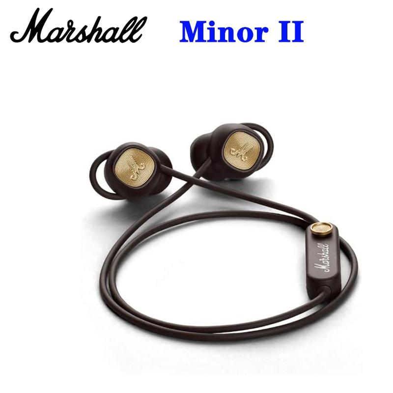 Marshall Minor II-auriculares inalámbricos HIFI, por Bluetooth, intrauditivos, deportivos, con micrófono, para...