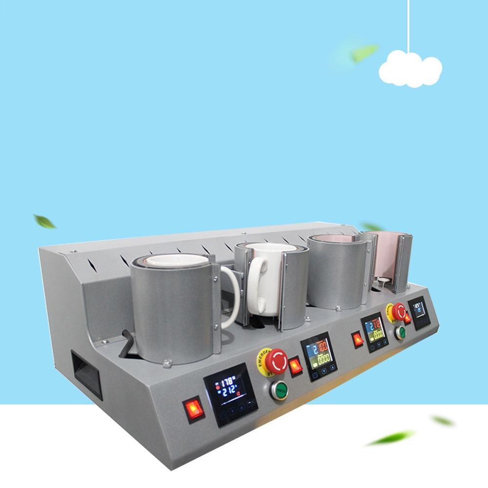 4 stations  Mug Press Machine Sublimation Heat Press Machine Printer for 4 Mug Cup Printing at One Time enlarge