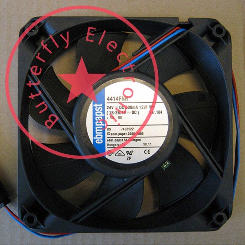 Brandnew 4414fnh 24vdc 500ma 12w original alemanha fluxo axial 12025 12cm ventilador de refrigeração refrigerador 120*120*25mm