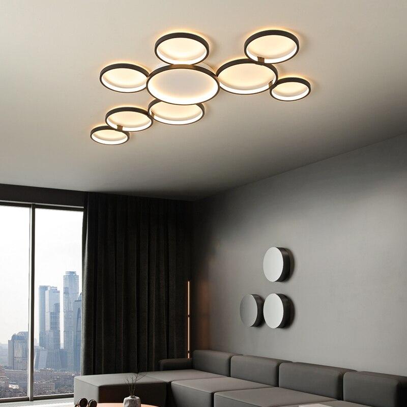 Горячая дизайнерская современная светодиодная люстра с регулируемой яркостью RC для гостиной, ресторана, спальни, учебы, Потолочная люстра, светильники