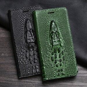 Leather Flip Phone Case For OUKITEL K6000 K10000 C11 C13 U16 Max U20 Plus U25 Pro Magnetic Cowhide Cover Dragon Head Wallet Bag