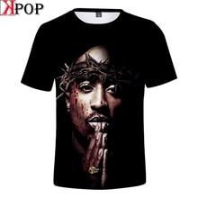 2pac 3D t-shirt hommes Tupac Makaveli t-shirt rappeur Biggie Smalls Snoop Dogg Eminem jay-z J Cole 21 Savage chemise Hip Hop vêtements