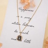 Женский кулон Go2boho Miyuki, ювелирное изделие из нержавеющей стали, ожерелье для лучших друзей, подарок, Ювелирное Украшение, воротник с алфавит...