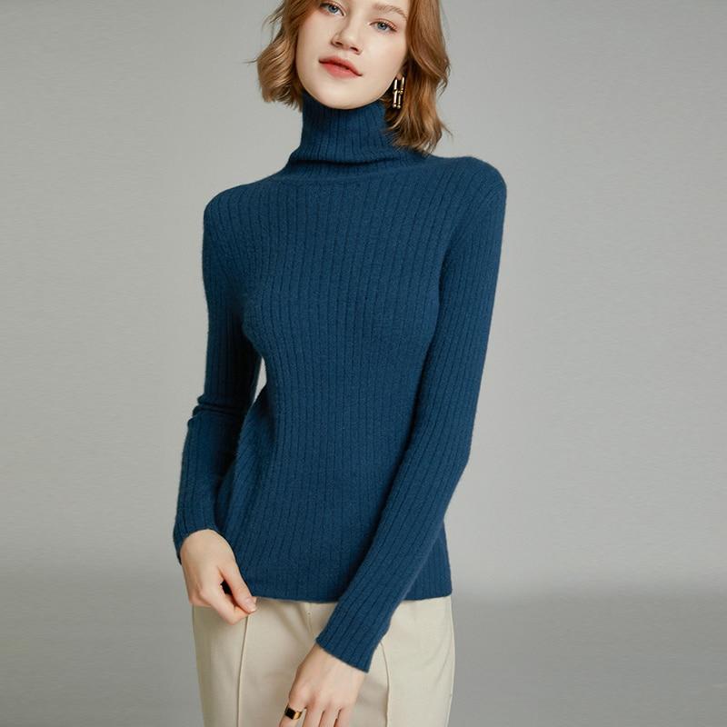 MeetMetro Women Sweater Turtleneck Cashmere Pullover Women Winter Wool Slim Sweaters Knitted Sweater Long Sleeve Women Clothing enlarge