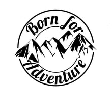 Interesting Born for Adventure Car Sticker Accessories Car Styling Decal Vinyl Car Window Cover Scra