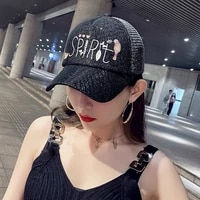 summer korean fashion paris sunshade baseball hat female colorful reflective outdoor sunscreen casual pretty cap