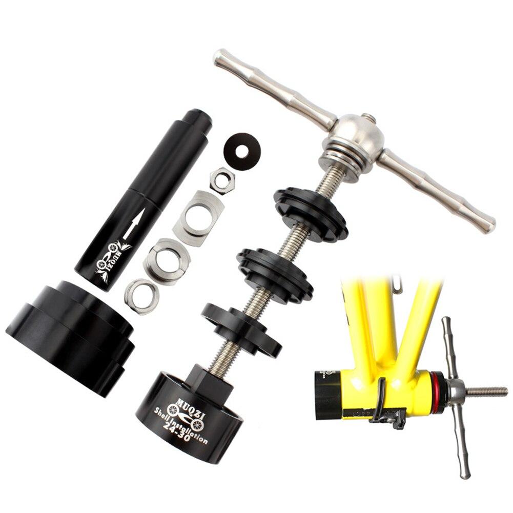 Rodamiento de llave para reparar instalar aleación surtido de prensa en desmontaje fácil de usar eje central de bicicleta juego de herramientas de extracción de eje práctico