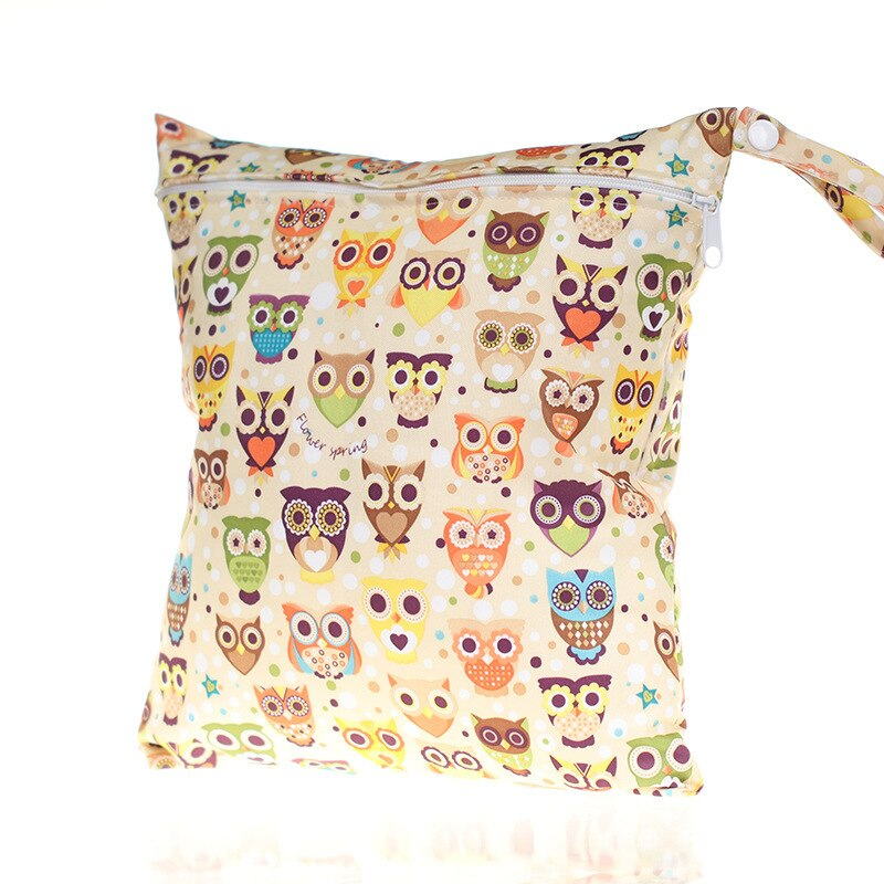 1PC lindo cremallera personalizado de dibujos animados bolsa impermeable bolsas de pañales para madre con cochecito mamá mochila de cambiar las bolsas de pañales de bebé