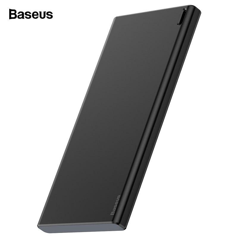 Baseus, 10000 мА/ч, внешний аккумулятор, портативный USB внешний аккумулятор, два входа, внешний аккумулятор, зарядное устройство для мобильных телефонов, планшетов, повербанк