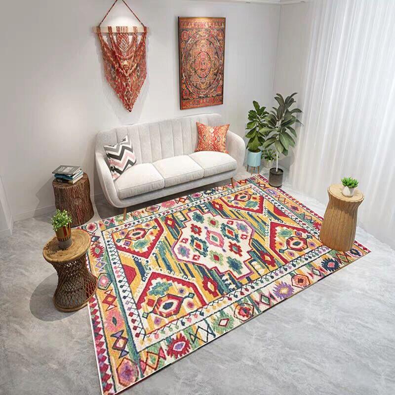 Alfombra marroquí para sala de estar, alfombra Vintage para dormitorio, sofá grande, mesa de café, alfombra para suelo, alfombra para sala de estudio Bohemia, alfombras para niños