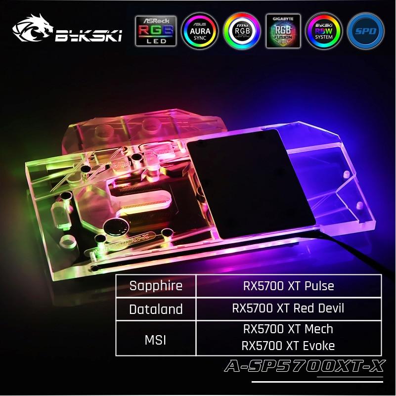 Bykski A-SP5700XT-X блок водяного охлаждения GPU для Sapphire RX 5700 XT Pulse, MSI RX5700XT Mech/Evoke Dataland RX5700XT Red Devil