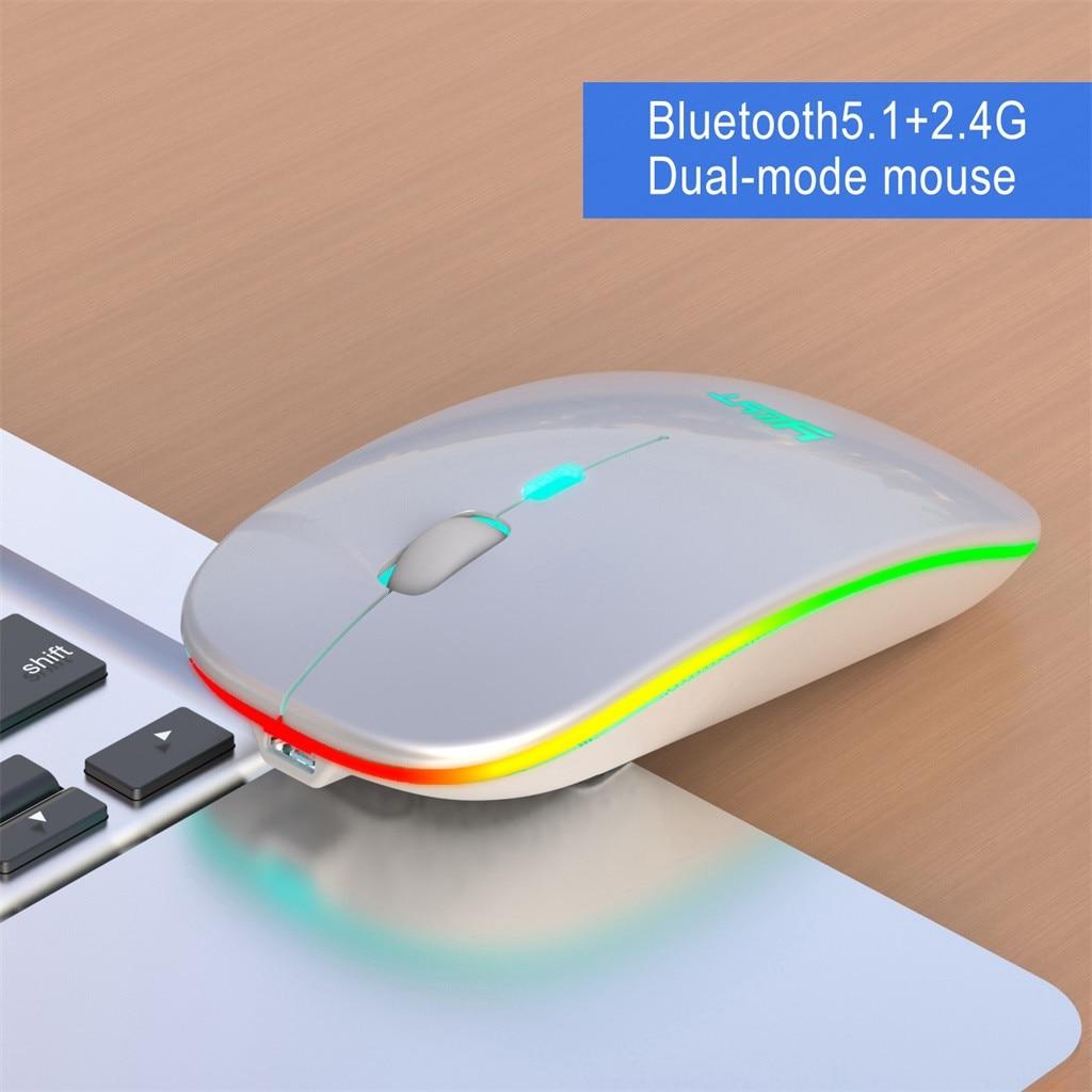 Беспроводная игровая мышь с подсветкой, 2,4 ГГц, Bluetooth, 1600DPI