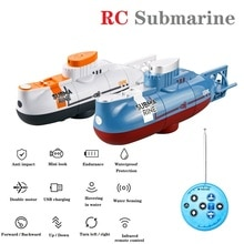 Mini RC Submarine Remote Control Boat Waterproof Diving Toy Simulation Model Gift for Kids Boys Girl