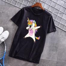 Mujer verano 2019 Ulzzang Vintage Harajuku Kawaii unicornio Van Gogh Hip Hop estampado Streetwear camisetas Camiseta Mujer