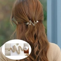 100pcslot diy simple multi drill pearl letters hair clips wave hairpin hair styling tools accessories ha1386