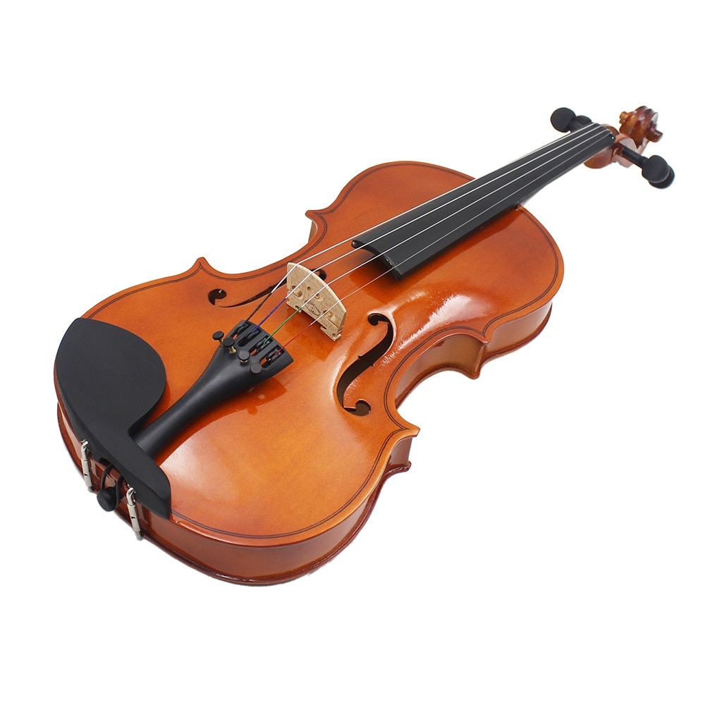 Solid Wood Violin 4/4 3/4 1/4 1/8 Craft Stripe Violino For Kids Students Beginner Case Mute Bow Strings Violin Dropshipping enlarge