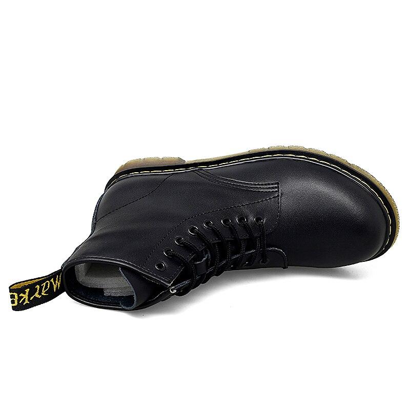 Chaussures homme bottes Doc printemps & automne chaussures Martins homme cuir chaussures cheville Bot Cowboy imperméable moto décontracté Coturno Botas