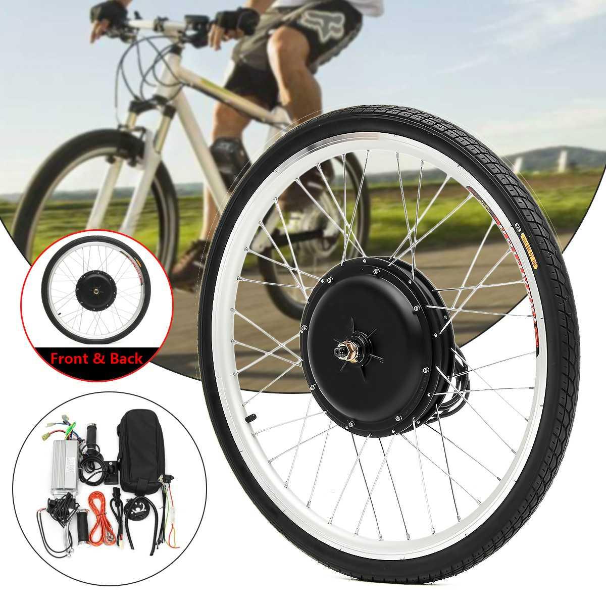 Ebike-Kit de conversión de Bicicleta eléctrica, Motor de 48V y 1000W, rueda...
