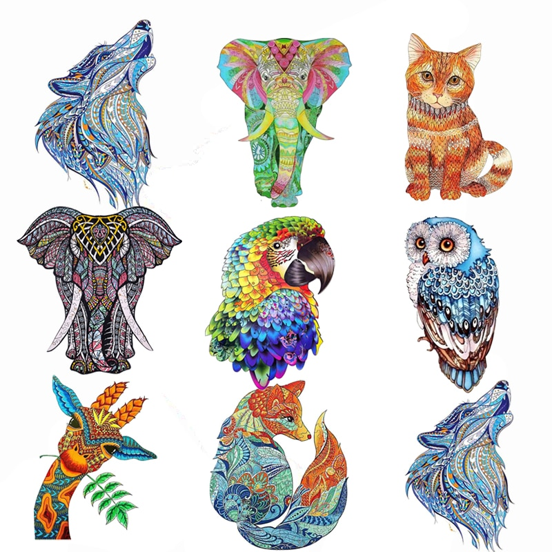 Wooden Jigsaw Puzzle Fox Puzzle Board Set Toy Interesting Wooden Puzzles For s Kids Christmas Gifts Educational Games Toys