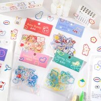 mohamm 45 unids bag kawaii strawberry rabbit sticker scrapbook stationery school supplies