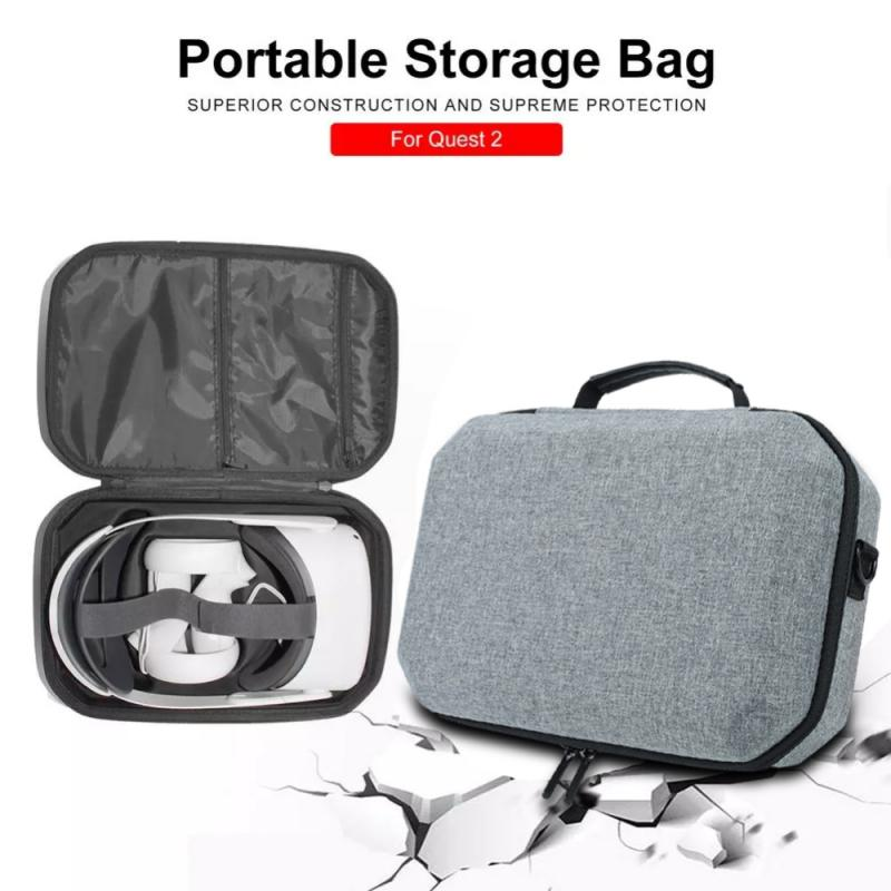Stylish NEW EVA Bag Hard Glasses Accessories Storage Box Travel Protective Case Carrying Box Cover Applicable To Oculus Quest 2 enlarge