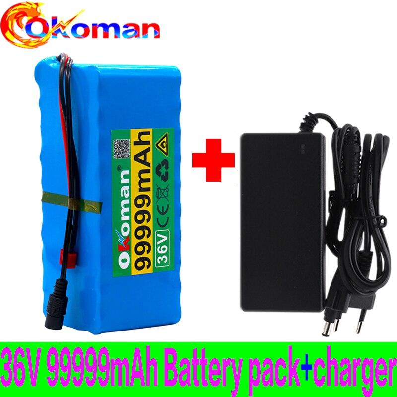 Original 10s4p 36v 99.999ah bateria 1000w 36v bicicleta elétrica bateria 36v 99999mah ebike bicicleta elétrica com bms + carregador