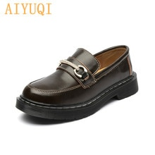 AIYUQI Women Shoes Spring Latest Ladies Real Leather British Style Women Martin Shoes Non-slip Large