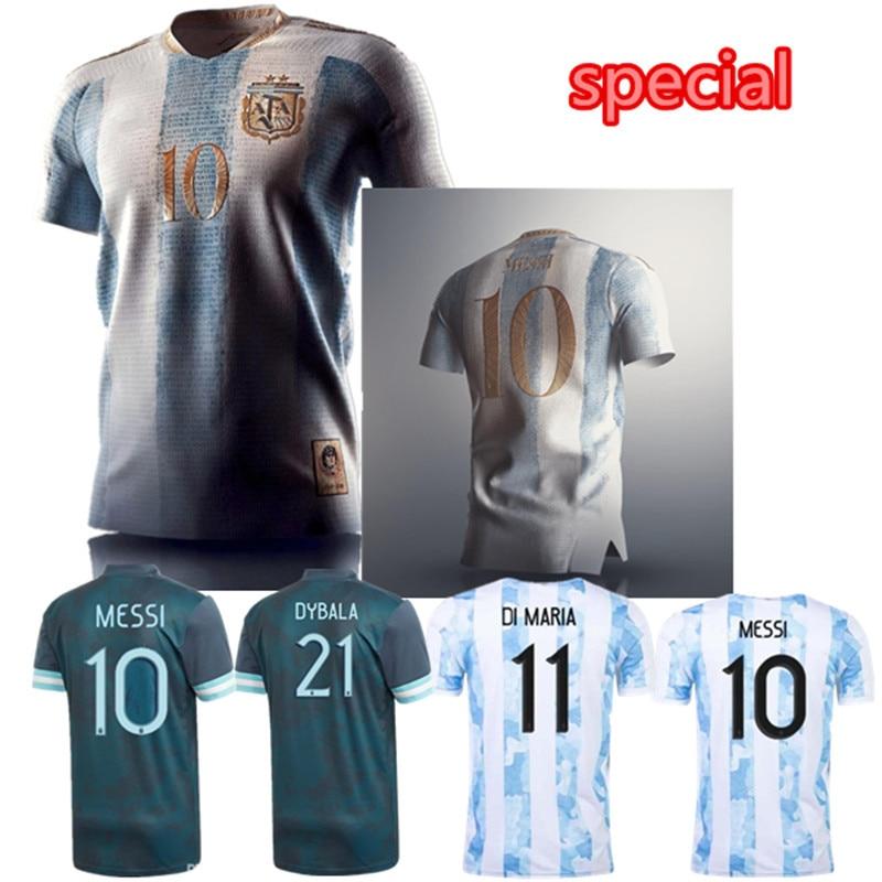 2020 de 2021 Argentinaes Casa de fútbol Jersey 20 21 MESSI DYBALA...