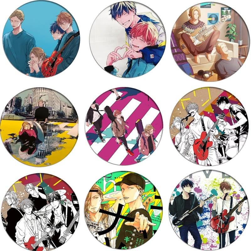 Free Shipping Anime GIVEN Cosplay Badge Brooch Kaji Akihiko Pins Badges for Clothes Backpacks Children Gift недорого