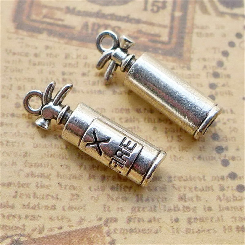 10 Delicate Fire Extinguisher Charms 7*22MM Extinguisher Tool Charms DIY Jewelry Accessories  - buy with discount