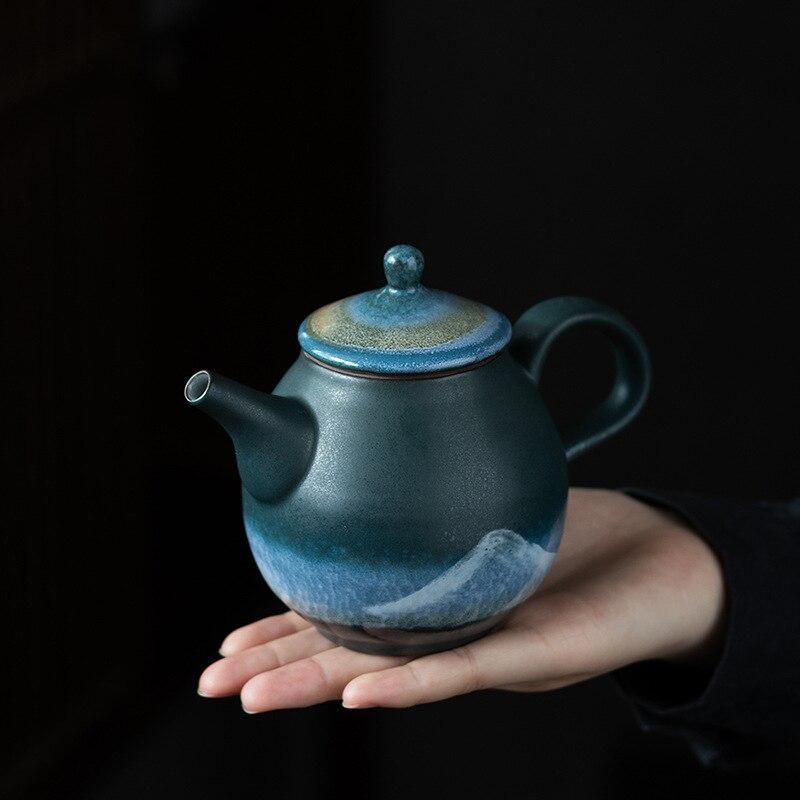 """Керамика Чай горшок печи изменить расписанную горы \""""Китайский кун-фу\"""" Чай горшок Чай церемонии посуда 210 мл"""