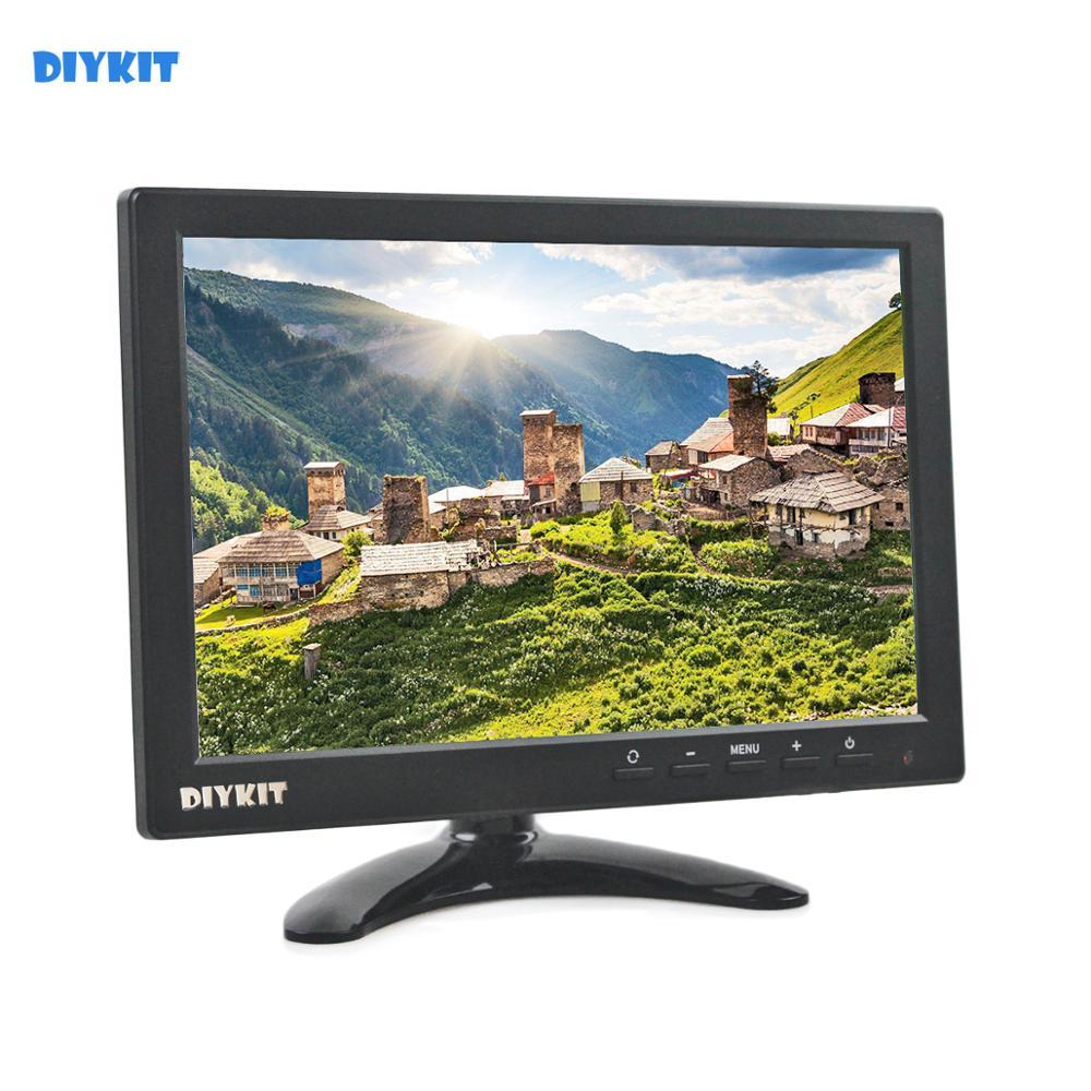 """Monitor de vista trasera para coche DIYKIT 10,1 """"IPS HD con entrada BNC/AV/VGA/HDMI 1280x800"""