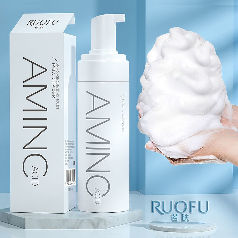 Amino Acid Cleansing Mousse Facial Cleanser Bubble Cleanser Refreshing Niacinamide face wash pore cleanser skin care products amino acid facial cleanser 60ml whitening face cleanser deep fresh hydrating moisturizing foam brightening face wash