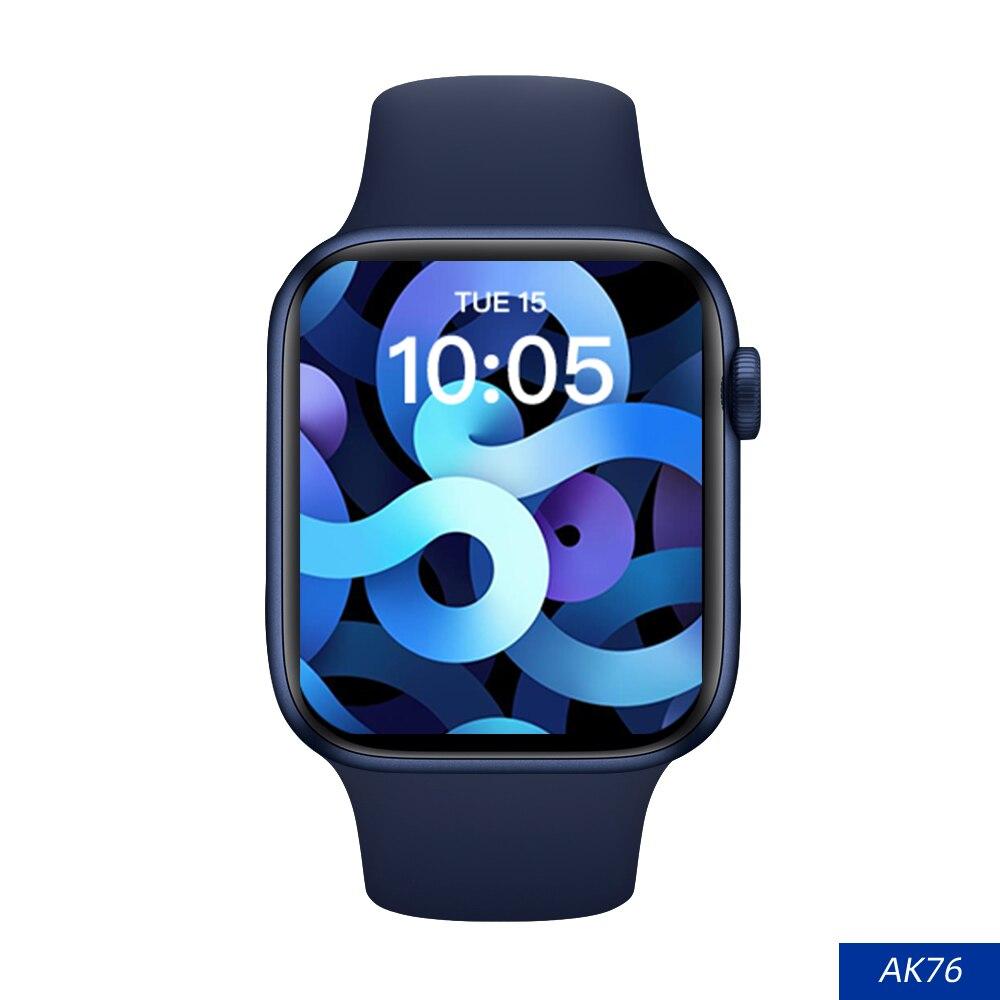 2021 جديد AK76 ساعة ذكية النساء الرجال ألعاب SmartWatch AK76 برو بلوتوث دعوة معدل ضربات القلب 1.75 بوصة عن بعد كاميرا أندرويد IOS